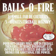 Goodness. Gracious. Great.  Balls-o-Fire recipe using Fireball Cinnamon Whiskey.