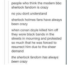 The Sherlock fandom has always been crazy.