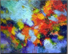 Título: Dirección norte A bella imagen con colores brillantes, geométricas. Acrílico sobre lienzo, 40 de alto, 30 de ancho, 1.5 profunda galería envuelto lona. Superficie muy texturada. Los lados están pintados de negro. Por cable, barnizado, listo para colgar. Certificado con firma de autenticidad. Firmado en el frente, firmado y titulado en el reverso.  Más pinturas e impresiones Giclée, pinturas líquidos, multi-panel arte abstracto, pinturas de paisajes geométricos, florales, urbanos…