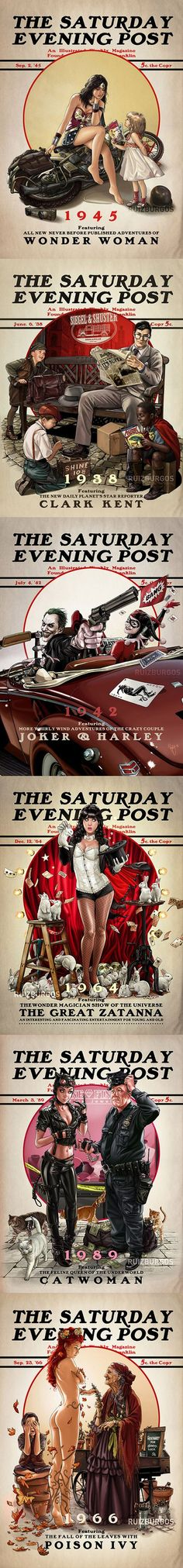 "Norman Rockwell inspired ""Saturday Evening Post"" series by OnlyMilo @deviantart a.k.a. Ruiz Burgos"