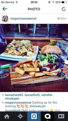 Burger and Nachos