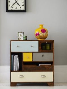 Exclusive new furniture from Oliver Bonas interior-design Retro Furniture, Upcycled Furniture, Painted Furniture, Bedroom Furniture, Furniture Design, Unusual Furniture, Garden Furniture, Wood Chest, Dresser As Nightstand