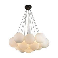 Cielo 3 Light Chandelier In Oil Rubbed Bronze Dimond Lighting — France & Son Item Description : 18 H x 33 Diameter Weight : 31 lbs Finish : Frosted Cloud Glass Shades Bulb Info: Base, 60 W Max Max Height: 94 Bubble Chandelier, 3 Light Chandelier, Bronze Chandelier, Chandelier Shades, Modern Chandelier, Elk Lighting, Pendant Lighting, Modern Lighting, Pendant Lamps
