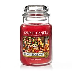 Home For The Holidays® : Large Jar Candles : Yankee Candle : The holiday spices of cinnamon and clove, mixed with earthy cedarwood and balsam.