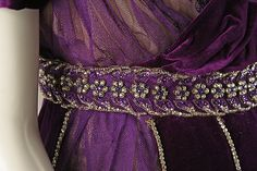 Evening dress (image 13 - detail) | House of Worth | French | 1910 | silk, cotton, metallic threads, glass | Metropolitan Museum of Art | Accession Number: 1977.158.1