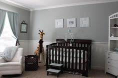 Light blue/grey & white with dark furniture                                                                                                                                                      More