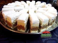 Romanian Desserts, Romanian Food, Sweets Recipes, Cookie Recipes, Good Food, Yummy Food, Savoury Cake, Sweet Desserts, Vanilla Cake