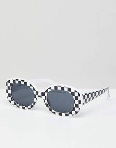 209998548c Asos DESIGN Checkerboard Print 90S Square Sunglasses Sombreros De Playa,  Anteojos, Moda Online,