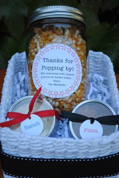 popcorn gift basket...thanks for popping by!