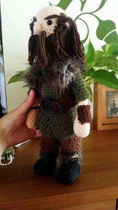 CROCHET - HOBBIT - LORD OF THE RINGS - LOTR - The Hobbit - Dwalin amigurimi