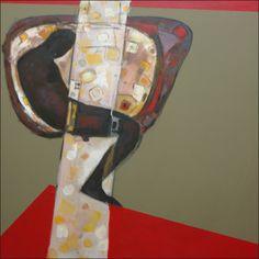 Tesfu Assefa Media Burden 6 - 100 x 100 cm Oil on canvas - 2011.www.tessfu.com