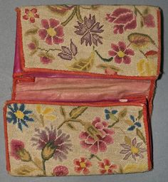 Textiles (Needlework) - Pocketbook Wool/Linen/Silk