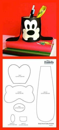 Homework is fun when your favorite Disney pal, Goofy, is there to lend a hand. Turn a recycled oatmeal container into a Goofy pencil caddy! Kids Crafts, Foam Crafts, Preschool Crafts, Diy And Crafts, Paper Crafts, Goofy Disney, Pot A Crayon, Minnie Mouse Party, Mickey Mouse