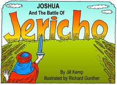 Joshua and the Battle of Jericho Printable Book - Color & BW  Books to print for many Bible stories