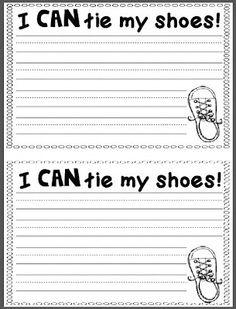 Chalk Talk: A Kindergarten Blog: Shoe Tying Club Writing Sheets and Pete the Cat