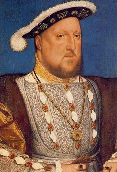 Portrait of Henry VIII - Hans Holbein the Younger. Oil on wood. 28 x 19 cm. Tudor History, British History, Uk History, Asian History, European History, History Facts, Henry Viii Children, Rey Enrique Viii, Henri Viii