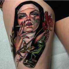 Trashy nun tattoo