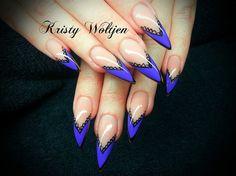 Purple Lace Stilettos by BellaNailz - Nail Art