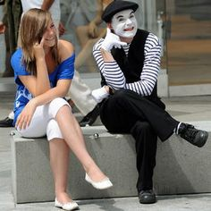 Supplying only the best and world travelled themed and comedy mime artist to the UK and London. Mime artists are a great option for entertaining guests at any type of event. Mime Artist, Mime Makeup, Scary Clowns, Walkabout, Travel Themes, Peek A Boos, Fancy Dress, The Outsiders, Street Art