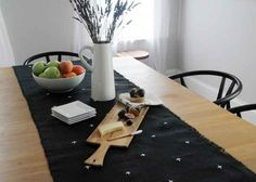 Cross-Stitched Starry Night Table Runner