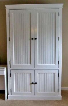 I want to make this! DIY Furniture Plan from Ana-White.com When a new baby comes along, it's not just the baby that you have to make room for in your lives. A baby also requires a large amount of things. And these things often don't fit into tradditional storage systems. This nursery armoire is designed to organize all of the baby's things, keeping necessities in one spot.