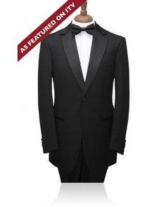 Boys 1 Button, Black Notch Lapel 2 piece Tuxedo by Alexander Dobell