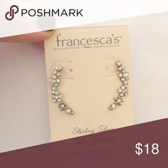 CZ ear crawlers Sterling silver CZ ear crawlers. Very cute! Francesca's Collections Jewelry Earrings