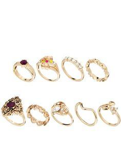 Image 1 ofASOS Granny's Treasure Box Ring Pack