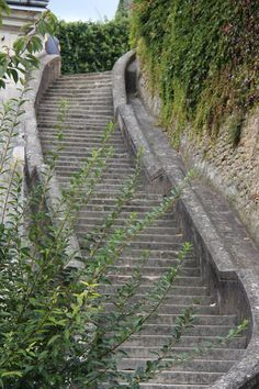 A very crooked and very old set of stairs Loches Loire France photo by jadoretotravel