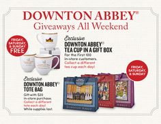 Celebrate Downton Abbey with exclusive Black Friday Promo's, Exclusive Products and win prizes through a virtual tea party! #downtonabbey #dothedownton #blackfriday