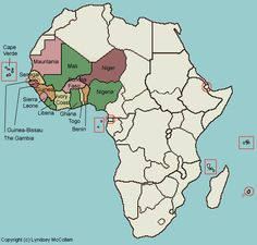 West Africa Interactive map