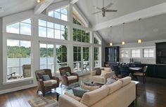 Perfect lake side windows