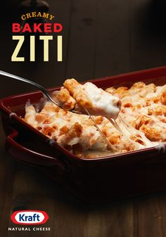 For a dinner no one will want to be late for, KRAFT Shredded Mozzarella with a Touch of Philadelphia mingles with sour cream and cream cheese, tomato, marinara and ziti to create a casserole that's creamy and Mama-Mia-melty!