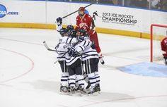 No. 10 UNH men's hockey rallies past No. 12 Denver, 5-2 #UNHhockey #IBelieveInUNH