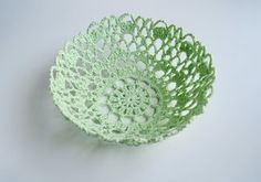 Make a bowl out of crochet doily
