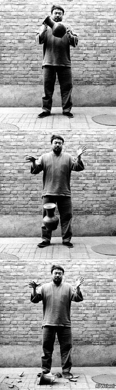 i love this photo series by Ai Weiwei, i love the message projected through him breaking the vases.