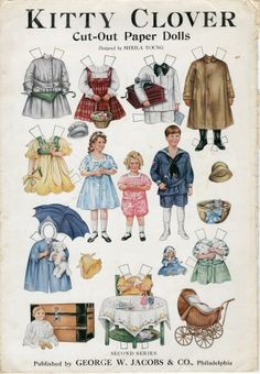 85.5087: Kitty Clover, Second Series   paper doll set   Paper Dolls   Dolls   National Museum of Play Online Collections   The Strong