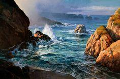 "Michael Godfrey - Pacific Morning - Oil - 48"" x 72"""