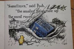 I love this. I would love to have this as a framed print. The Doctor and Pooh. Yes.