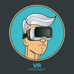 VR glasses for smartphone vector illustration. Virtual reality headset logo icon