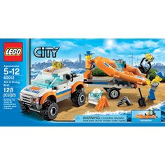 Compare prices on LEGO City Set Coast Guard and Diving Boat from top online retailers. Save money on your favorite LEGO figures, accessories, and sets. Lego Space Sets, Lego City Sets, Building For Kids, Building Toys, Legos, Lego Coast Guard, 4x4, Lego City Police, Lego Army