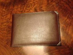 leather wallet with metal corners