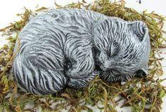 Sleeping Cat Kitten Concrete Statue Cast Stone | eBay $12
