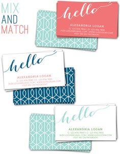 Digital Calling Cards - Saffron Avenue    Patterns, colors