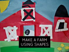 Preschoolers can practice their shape recognition and sorting skills to build their very own farm, complete with animals and three-dimensional barn doors! Farm Animal Crafts, Farm Animals, Preschool Crafts, Preschool Activities, Barn Crafts, Shape Crafts, Vacation Bible School, Barn Doors, Three Dimensional