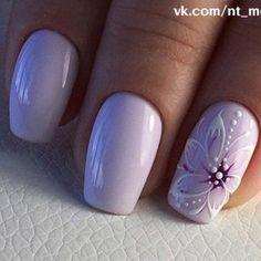55 trendy manicure ideas in fall nail colors page 27 Nail Art Designs, Flower Nail Designs, Stylish Nails, Trendy Nails, Cute Nails, Purple Nail Art, Floral Nail Art, Gel Nails, Nail Polish