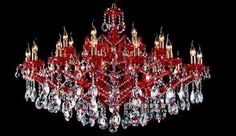 Aliexpress.com : Buy red crystal chandelier 24 lights colored crystal chandelier lighting C9178 120cm W x70cm H from Reliable lighting ect suppliers on HK SUNWE LIGHTING CO., LTD.