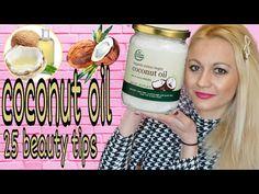 ΛΑΔΙ ΚΑΡΥΔΑΣ 25 Εκπληκτικές χρήσεις || Coconut oil beauty tips || DIY || sophia's beauty World - YouTube Extra Virgin Coconut Oil, Water Bottle, Organic, Drinks, Tips, Youtube, Fitness, Drinking, Beverages
