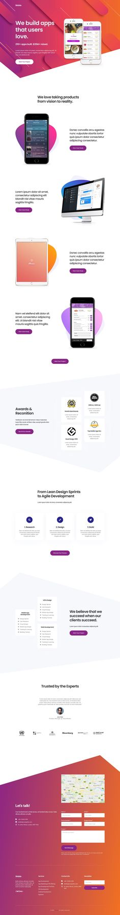 'Skiddo' is an App Landing Page template built for the Elementor page builder plugin. You simply import the page template (in JSON format) to begin editing the Landing Page within WordPress. This template is included in the $35 Elementorism pack consisting of over 50+ Elementor page templates. Wordpress Landing Page, App Landing Page, Landing Page Design, Page Template, Website Template, Templates, One Page Website, Modern Website, Custom Website Design