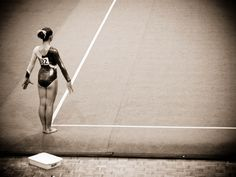 That moment right before your start, your heart pounding so hard then music on and the world disappears! #Gymnast